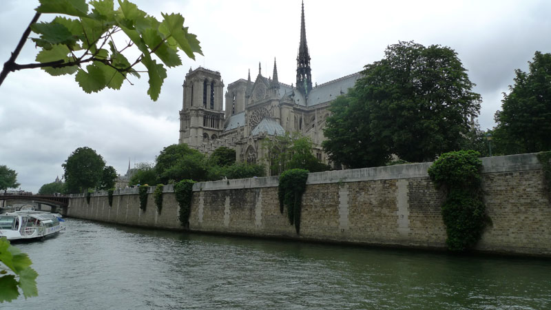 Paris cruise and private minibus sightseeing tour with a driver/guide