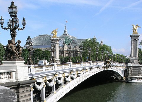 Paris : Alexander III bridge