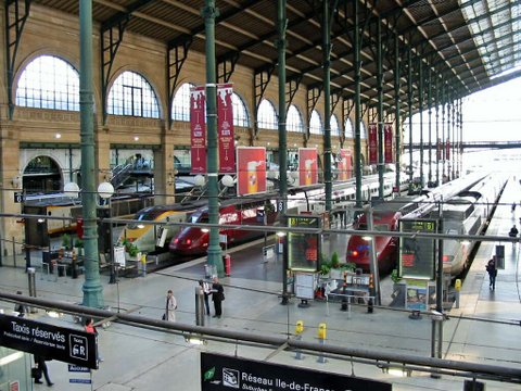 Paris : station de train