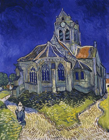 Auvers sur Oise : the church