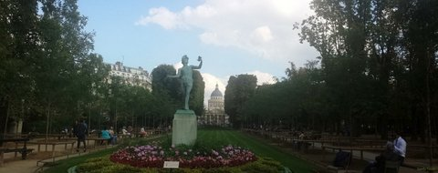 Paris : Luxembourg garden & Pantheon
